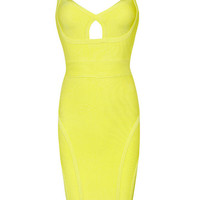 Aluna Bandage Dress Yellow