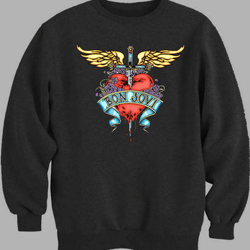 logo Bon Jovi Sweater for Mens Sweater and Womens Sweater *