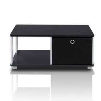 Furinno Coffee Table with Bin Drawer, Black/Black - Walmart.com