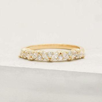 Marquise Eternity Ring - Gold