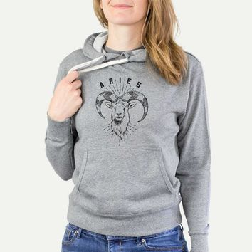 Aries  - French Terry Hooded Sweatshirt