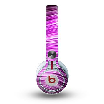 The Pink Vector Swirly HD Strands Skin for the Beats by Dre Mixr Headphones