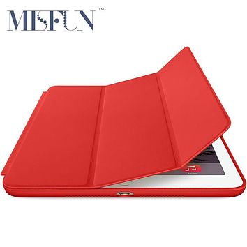 Smart Case For iPad Air 2 ( ipad 6 ) Original 1:1 Slim Ultra Thin PU Leather Folding Protective Stand Cover Auto Sleep/Wake up