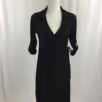 Old Navy Black Collared Maternity Dress - (xs)