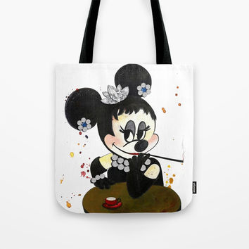 Audrey Hepburn Tote Bag by MIKART