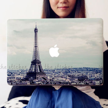 Eiffel Tower macbook decal, Air or Ipad Stickers Macbook Decals Apple Decal for Macbook Pro / mac cover