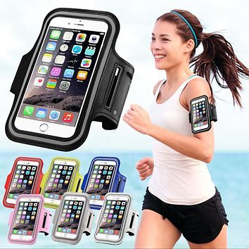 Sport Arm Band Case For iPhone 6 6S Gym Waterproof For Samsung Galaxy S3 S4 S5 S6/Edge S7 XiaoMi Mi5 PU Leather Phone Cover