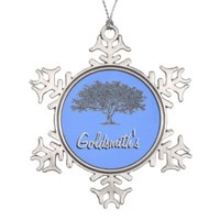 Ornament - Snowflake - Family tree with name