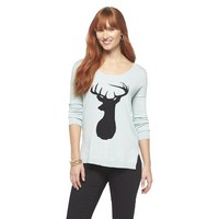 Deer Pullover Sweater - Cyrus Purple Collection