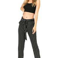 Zoe Stripe Ankle Trousers