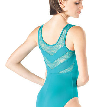 Adult Tank Leotard with Lace L-752