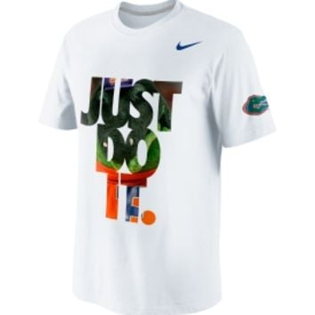 Nike Men's Florida Gators DNA 'Just Do It' White T-Shirt