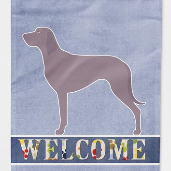 Weimaraner Welcome Flag Garden Size BB8280GF