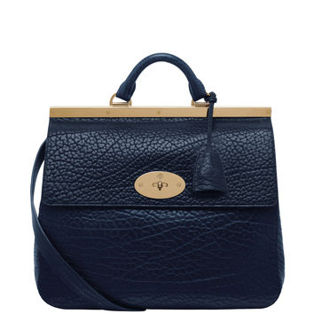 Mulberry Suffolk Shrunken Calf - Blue Leather Bag - ShopBAZAAR