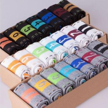 7 Pairs Lot Summer Style Men'S Womens Socks 7 Days Of The Week Ankle Socks Crew Sock Best Gift 3 Colours A1 Q1