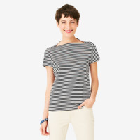 Kate Spade Saturday Striped Slip Neck Tee In Cotton Jersey