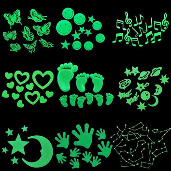 Cool Gifts Fashion Glow in the Dark Fluorescent Plastic Home Decorate Wall Sticker = 1929677956