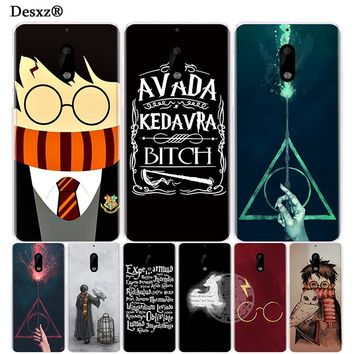 Desxz harry potter deer howgwarts hallows cover phone case for Nokia 6 5 3  Lumia 630 640 640XL
