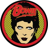 David Bowie Men's Woven Patch Black
