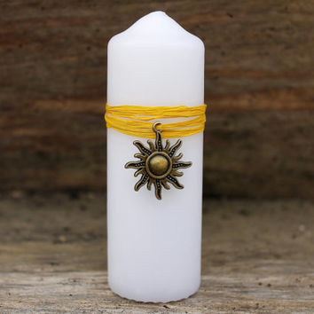Midsummer ritual candle, Summer Solstice, Sun God, Pagan God candle, candle magic, summer ritual decor, pagan altar decor, wiccan home decor