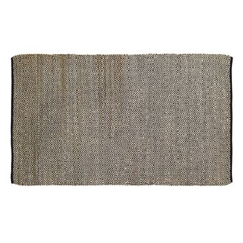 Zuma Black - Jute & Cotton - Handwoven -  60 x 96 - Rug