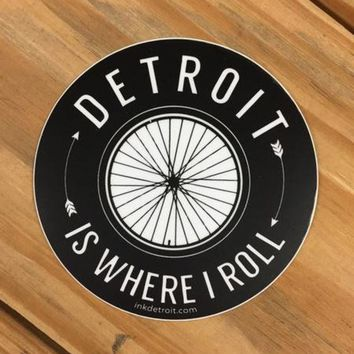 DCCKG8Q Ink Detroit Detroit Is Where I Roll Vinyl Die Cut Bumper Sticker