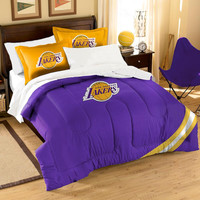 Los Angeles Lakers NBA Embroidered Comforter Twin-Full (Contrast Series) (64 x 86)