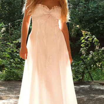 Ethereal Romantic Angelic White Wedding Dress with by KataKovacs