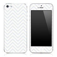 Subtle White Chevron Pattern Skin for the iPhone 3, 4/4s or 5