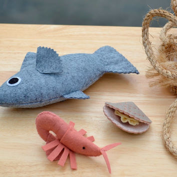 Catch of the Day Felt Seafood Set
