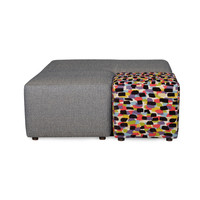 Blast - Azure with Accent Upholstered Living Room Ottoman