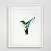Hummingbird Wall Art Decor Kids Wall Hanging Art Watercolor Painting Home Wall Poster Bird Art Pictures Gift No Frame