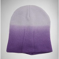 Ombre Purple Beanie - Spencer's