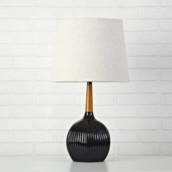 URBAN SHOP BLACK RABBIT RIBBED WOODEN LAMP - Walmart.com