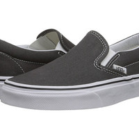 Vans Classic Slip-On™ Core Classics Charcoal (Canvas) - Zappos.com Free Shipping BOTH Ways