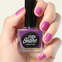 Little Ondine Water-based Peel off Odor Free Quick Dry Non Toxic Natural Nail Polish-Solid Purple 0.36 Fl Oz( L726-Orchid )