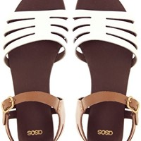 ASOS FIREWORK Leather Flat Sandals at asos.com