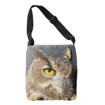 Horned Owl Photo Tote Bag