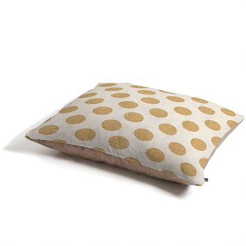 Allyson Johnson Gold Dots Pet Bed
