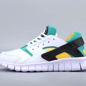 One-nice™ NIKEFree Running Huarache Running Sport Casual Shoes Sneakers White Green I-CSXY