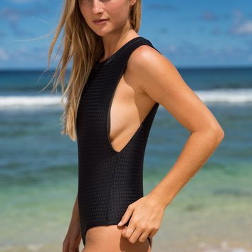 ACACIA Swimwear 2018 Cloud 9 Mesh One Piece in Black Beauty