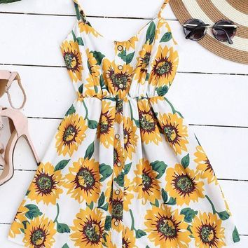 Sunflower Field Dress
