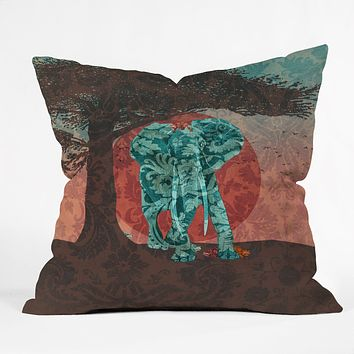 Belle13 Indian Summer With Raccoons Throw Pillow