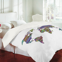 DENY Designs Home Accessories | Bianca Green Overdose World Duvet Cover