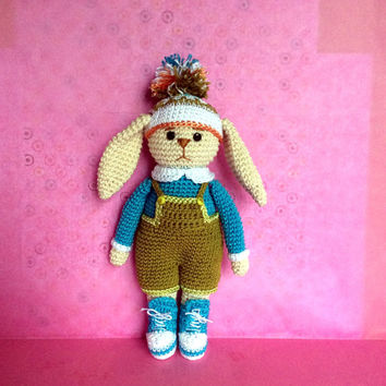 Crochet Bunny Crochet toy Gift for daughter Gift for girl Cute toy  Amigurumi animals Kids toy Soft toy Crochet animals