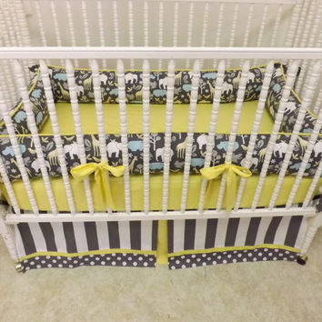 Made to Order 3 pc Crib Bedding Set