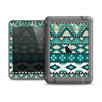The Vector Teal & Green Aztec Pattern  Apple iPad Air LifeProof Fre Case Skin Set