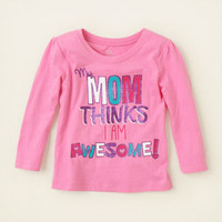 baby girl - graphic tees - awesome mom graphic tee | Children's Clothing | Kids Clothes | The Children's Place