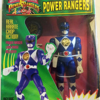 "Mighty Morphin Power Rangers: Blue Ranger Billy ~ 8"" Karate Action Figure Ban Dai Vintage New in Box Never Opened Free Shipping"