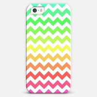 Colorful Ombre Chevron iPhone 5s case by Organic Saturation   Casetagram